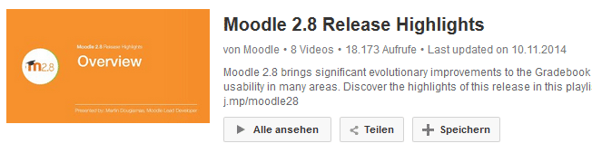 YouTube-Videos:  Moodle 2.8 Release Highlights
